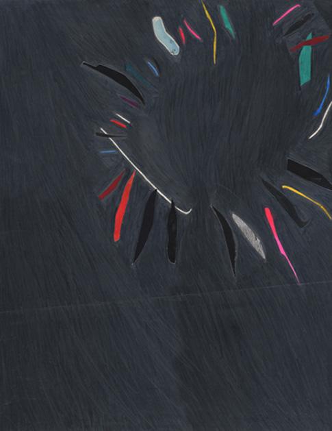 Joy Lapse, 2010, tm sur papier, 48 x 38 cm