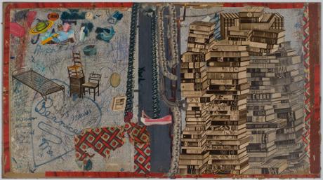 Life of Books, 2014, collage, 32 x 45 cm