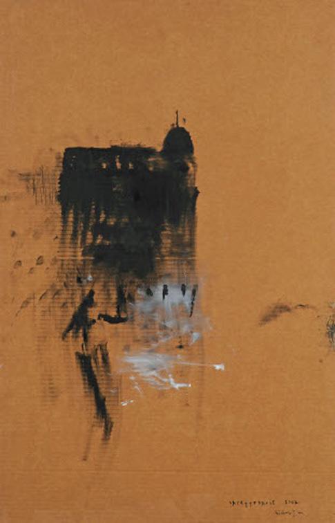 La cattedrale, 2007, huile sur carton, 97 x 64 cm