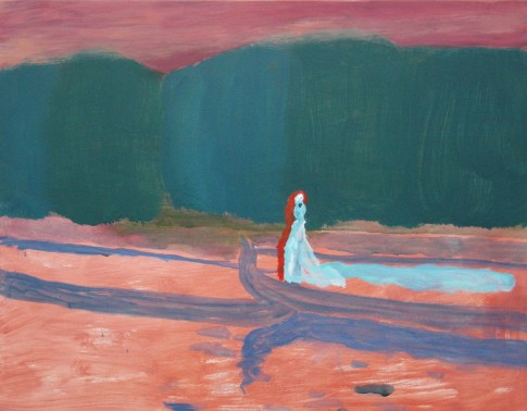 Eleanor Moreton,The Lady of Shalott, 2010, Oil on canvas, 35 x 45 cm