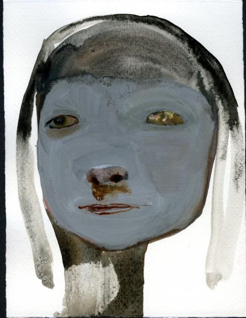 Maja Ruznic, the other woman, 2013, Mixte Technique on paper, 20 x 15.5 cm