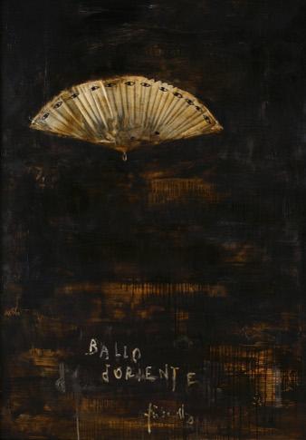 """Piero Pizzi Cannella, """"Ballo D'oriente"""", 2014, techniques mixtes sur panneau, 142 x 102cm"""