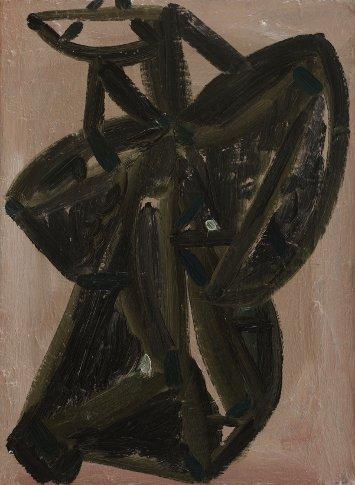 Andrew Seto, « Rigor Mortis », 2014, huile sur toile, 40 x 30 cm