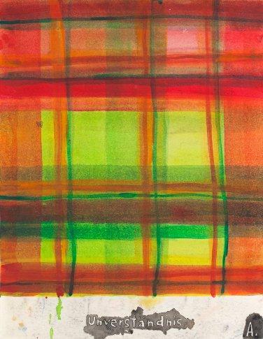 Martin Assig, Saint Paul # 277, 2012, aquarelle et cire sur papier, 39,3 x 30,5 cm