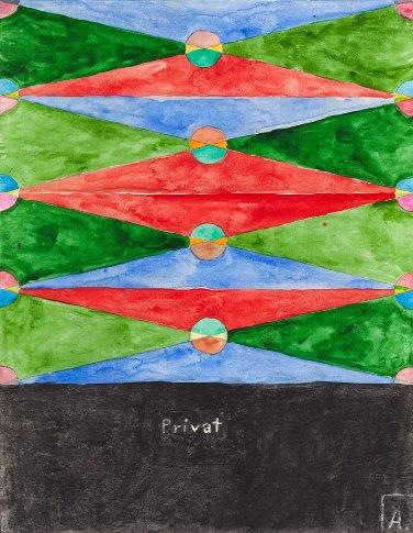 Martin Assig, Saint Paul # 319, 2013, aquarelle et cire sur papier, 39,3 x 30,5 cm