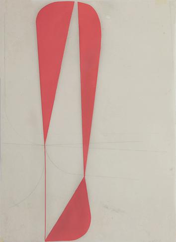 Katrin Bremermann, 2016, laque sur papier ciré, 40,5 x 29,7 cm