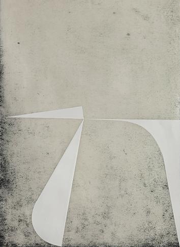 Katrin Bremermann, 2016, laque sur papier ciré, 40,5 x 29,7 cm Blanc