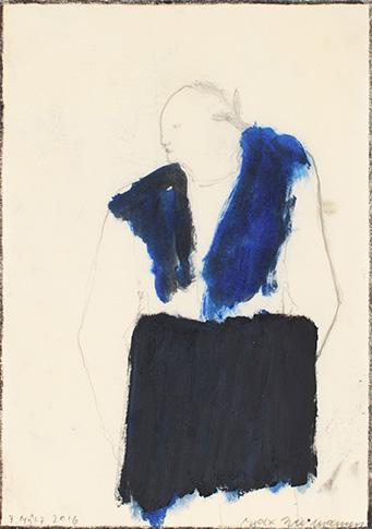Max Neumann, 3 mars 2016, TM sur papier, 29,5 x 21 cm