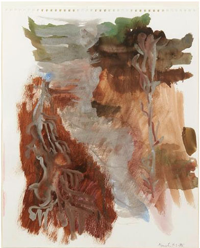 Per Kirkeby, Myusueter, 1996, aquarelle gouachée, 46,6 x 37 cm