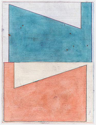 Pius Fox, Sans titre, 2016, TM sur papier, 30 x 23 cm