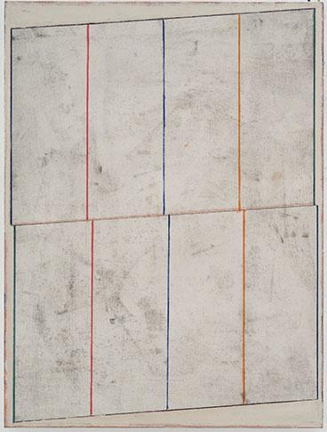 Pius Fox, Sans titre, 2016, TM sur toile marouflée sur bois, 57 x 43 cm