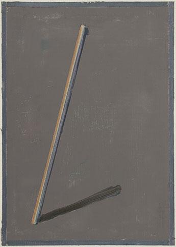 Pius Fox, Stab, 2013, huile sur papier, 24 x 17 cm