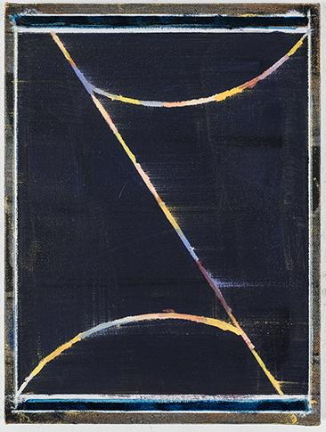 ZIrkuslichter, 2016, crayon, huile et pastel sur papier, 26,9 x 20,8 cm